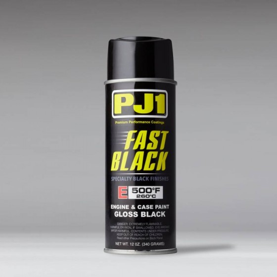 PJ1 FAST BLACK ENGINE AND CASE PAINT 500F - GLOSS BLACK - 12oz