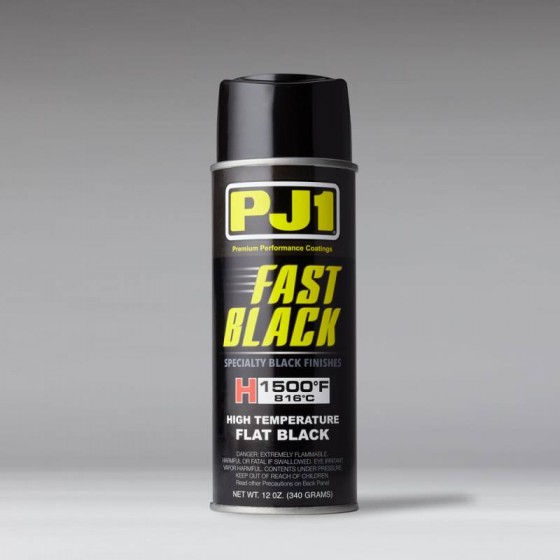 PJ1 FAST BLACK HIGH TEMPERATURE PAINT 1,500F - FLAT BLACK 12oz