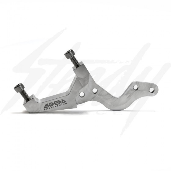 Chimera Stunter Rear Dual Caliper Bracket Set Up for Kawasaki Z125 Pro