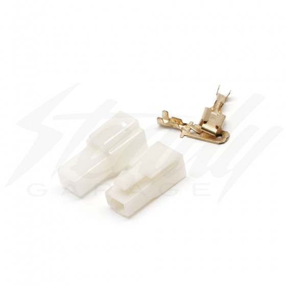 1 Pin Connector Set - 6.3mm