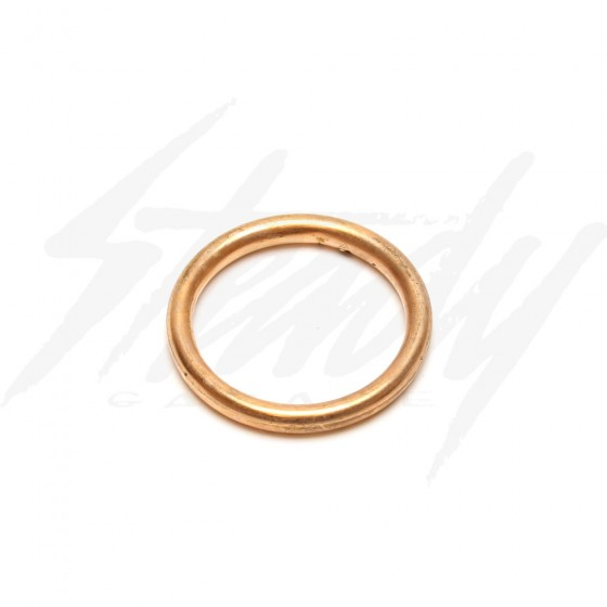 Round Copper Exhaust Gasket for Big Bore GY6 Head also Fits  ZS190 engine