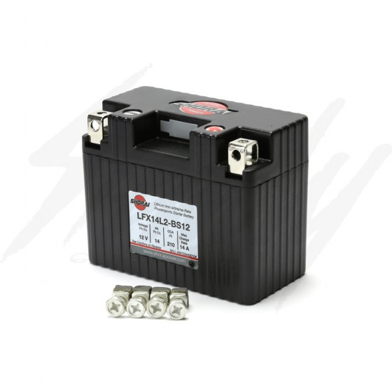 Shorai Lithium Battery LFX14L2-BS12 - Honda REBEL 300/500 Grom 125 Kawasaki Z125 210CCA
