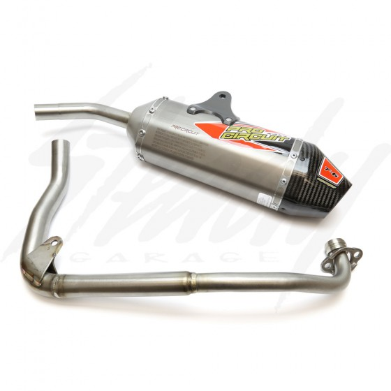 Pro Circuit T6  Full Exhaust  ( Titanium Can w/ Carbon End Cap) Honda Grom 125