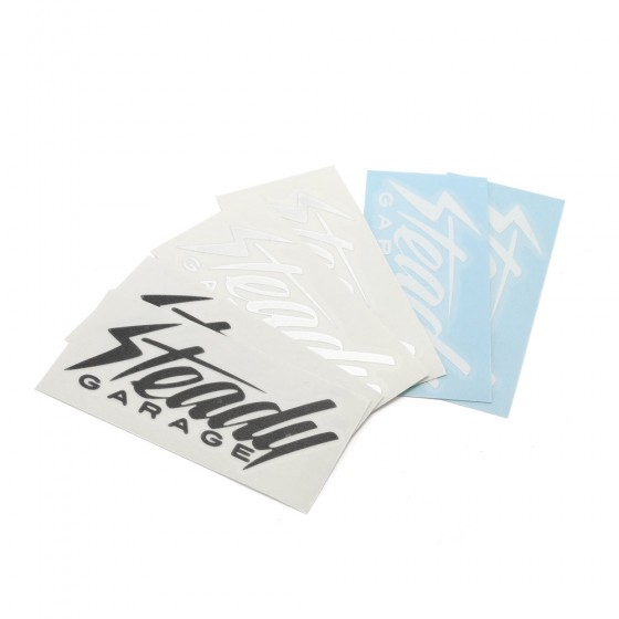 Steady Garage Logo Vinyl Transfer Stickers 2x