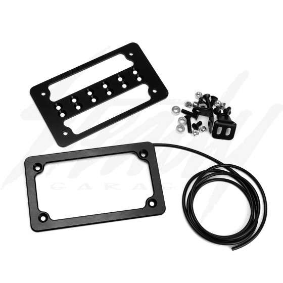 JSB Fabrications V3 License Plate Bracket w/LED lights