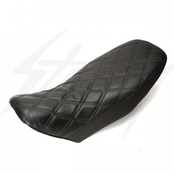 DSBBK Type Custom Grom 125 Seat Diamond Stitch Black/Black