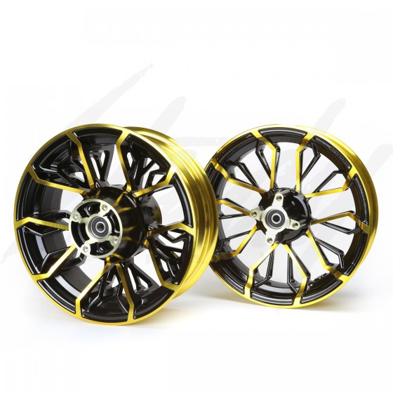 KCR Circuit Honda Grom 125 Rim Wheel Set - Black/Gold