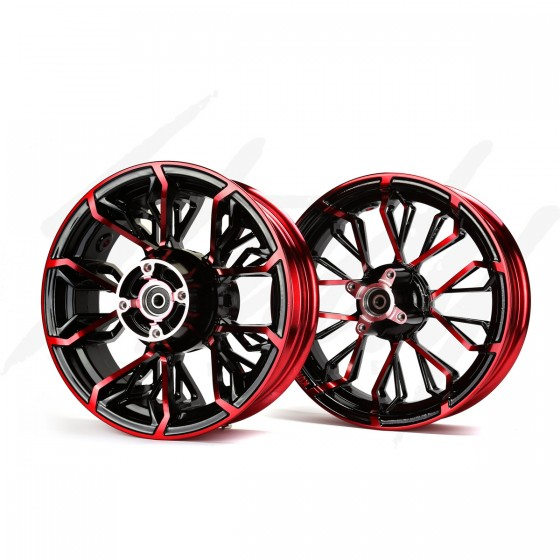 KCR Circuit Honda Grom 125 Rim Wheel Set - Black/Red