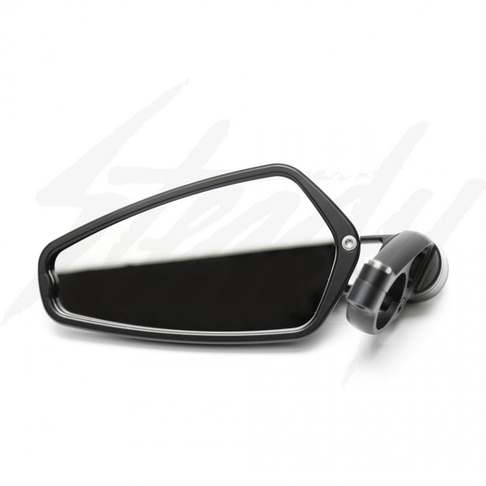 Crg arrow bar end mirror black for Mirror black
