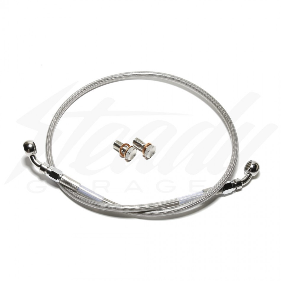 Steel Braided Brake System : Russell stainless steel braided front brake line kymco k