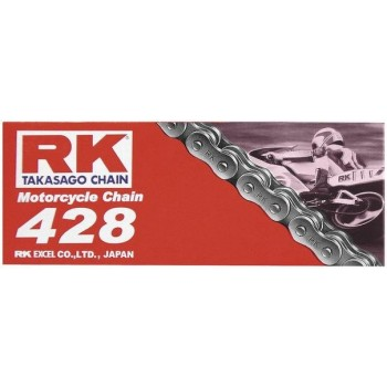 RK Racing 428 Motorcycle Natural Chain 134L