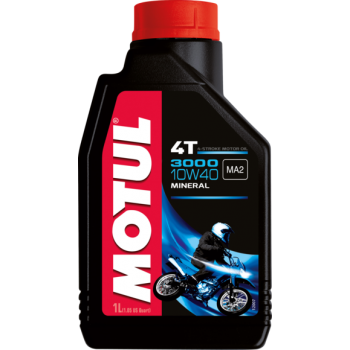 Motul 4T 3000 Petroleum Engine Oil 10W40 - 1 Quart