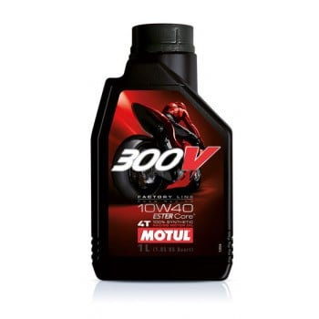 Motul 300V Factory Line 100% Synthetic 4T 10W40 Ester Motor Oil - 1 Liter