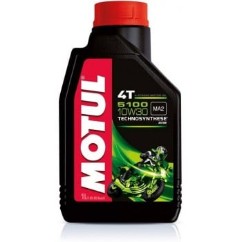 Motul 5100 Synthetic Blend 4T 10W30 Ester Motor Oil - 1 Liter