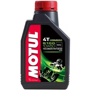 Motul 5100 Synthetic Blend 4T 10W50 Ester Motor Oil - 1 Liter