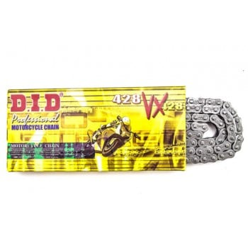 D.I.D. Pro-Street  428VX X 130 Motorcycle X-Ring Natural Chain