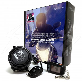 Gorilla 9100 Compact Motorcycle Alarm with 2-Way Paging System