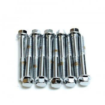 Chrome M6x1.0mmx28mm Hex Bolts Set