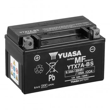 YUASA YTX7A-BS AGM MAINTENANCE FREE BATTERY - 12V 7AH (105 CCA)
