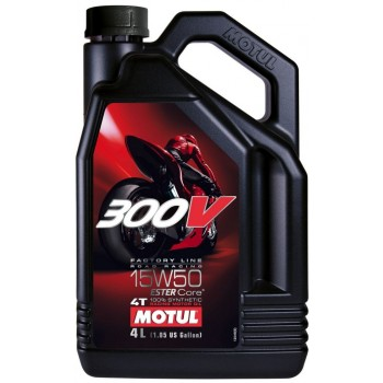 Motul 300V Factory Line 100% Synthetic 4T 10W40 Ester Motor Oil - 4 Liter