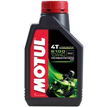 Motul 5100 Synthetic Blend 4T 10W40 Ester Motor Oil - 1 Liter
