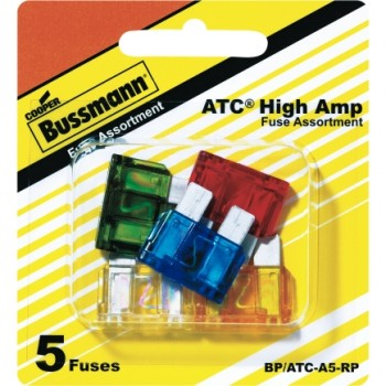 Bussmann BP/ATC-A5-RP Blade Type Fuse Assortment, 5 Pack