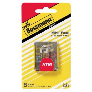 Bussmann BP/ATM-A8-RP ATM Blade Fuse Assortment Emergency Pack, 8 Pack