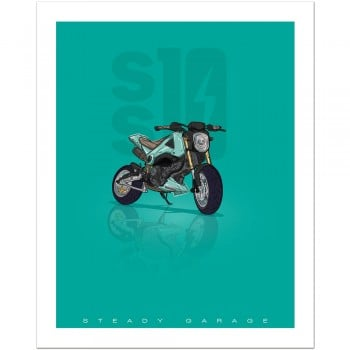 Steady Garage SS10 (Grom) Poster Print