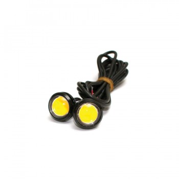12v LED Amber Signal Lights Black Housing
