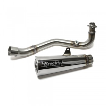 Brocks Performance Alien Head 2 Full Exhaust System Kawasaki Z125 Pro