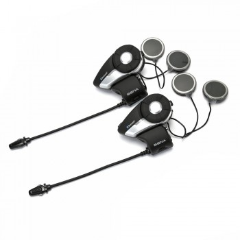Sena 20S Motorcycle Bluetooth Communication System 2 Headsets Dual Pack