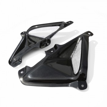 TYGA Tank Shrouds with Duct and Grill  Honda Grom 125 - Black