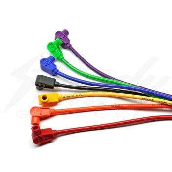 Taylor Single 90 Degree 8mm Spiro Pro Silicone Spark Plug Cable - (2 feet)