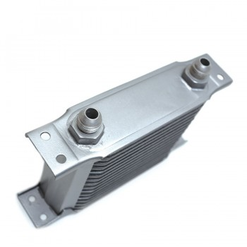 "Aluminum Oil Cooler 6.5"" Core 16 Row AN8 Fitting"