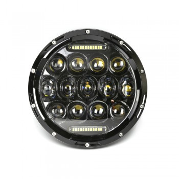 "7"" Round 75W LED Headlight w/ DRL Low/High Beam Jeep Harley Davidson"
