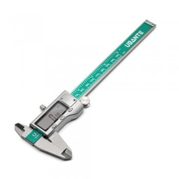 "Ubante Electronic Digital Caliper 0-6"" Display Inch/Metric/Fractions Stainless Steel Body"