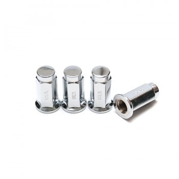 Chrome M10x1.25 Flat Bottom ATV Lug Nuts
