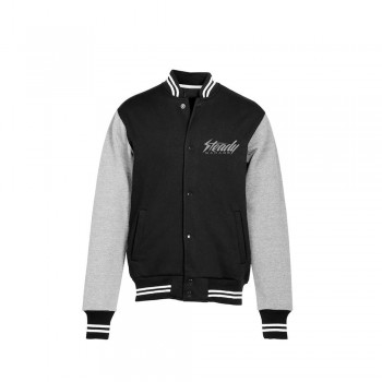 Steady Garage Logo Varsity Sweat Shirt Jacket