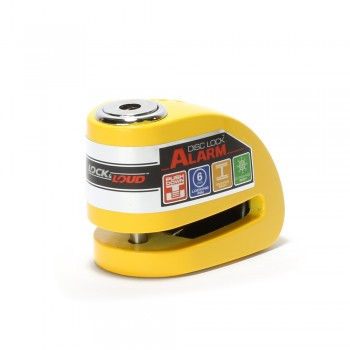 Xena XZZ6 Disc Lock With Alarm For Scooters - Yellow
