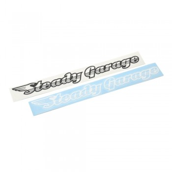 Steady Garage Wing Vinyl Transfer Sticker