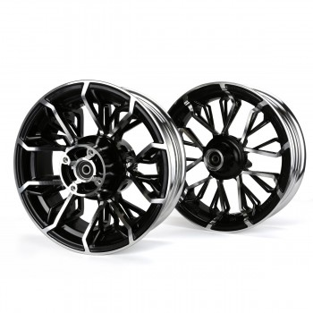 KCR Circuit Honda Grom 125 Rim Wheel Set - Black/Silver