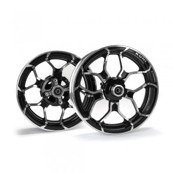 Kuni Phat Star Kawasaki Z125 Rim Wheel Set - Black/Silver