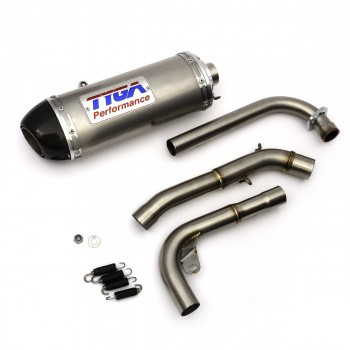 Tyga Stainless Oval Full Race Exhaust System w/Carbon Cap Honda Grom 125