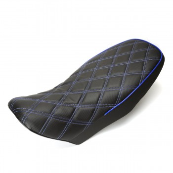 DSBB 2 Type Custom Grom 125 Seat Diamond Stitch Blue/Black w/Piping