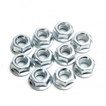 M8x1.25 Flange Nuts - Pack of 10