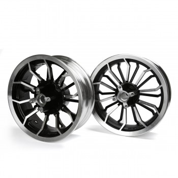Vmaxx Lightning Honda Grom 125 Rim Wheel Set - Black/Silver