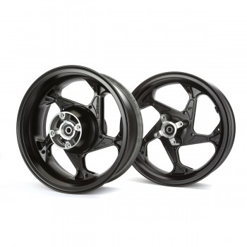 Trackstar Honda Grom 125 Rim Wheel Set - Black