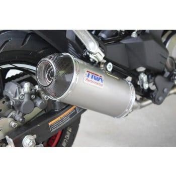 Tyga Stainless Oval Full Race Exhaust System w/Carbon Cap Kawasaki Z125 Pro