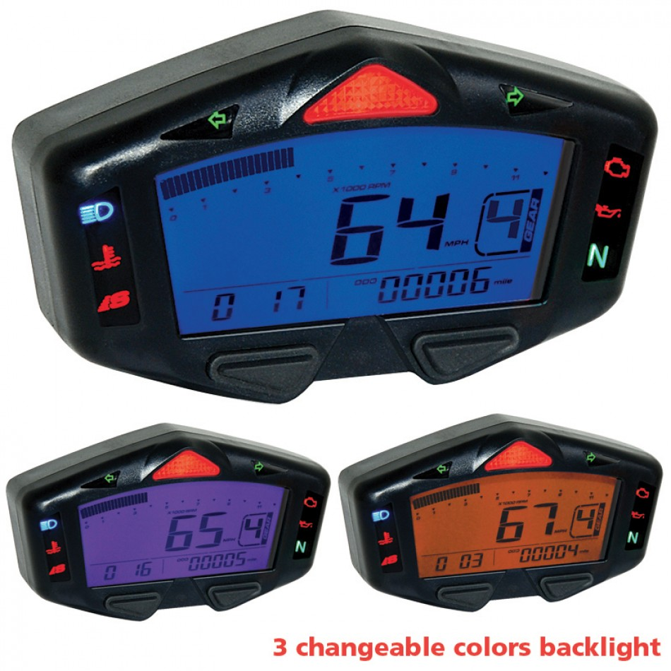 Digital Gauge Cluster : Koso db r mini digital speedometer gauge cluster kit
