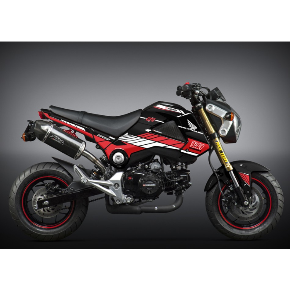 honda grom 2014 15 yoshimura graphics kit black. Black Bedroom Furniture Sets. Home Design Ideas